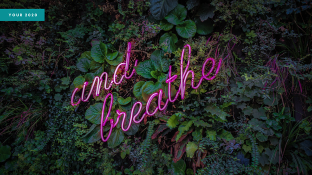 header showing the words 'and breathe'