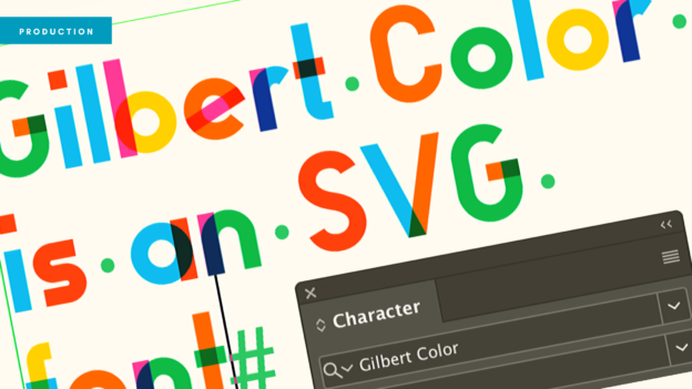 Header banner showing a colourful variable font